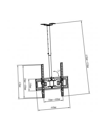 Uchwyt ART  AR-21L (sufitowy; 32  - 60 ; Max. 45kg)