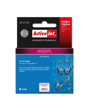 ActiveJet AE-613 tusz magenta pasuje do drukarki Epson (zamiennik T0613)