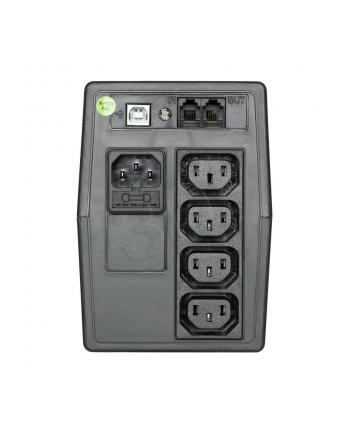 Zasilacz UPS Activejet AJE-800VA LED (TWR; 850VA)