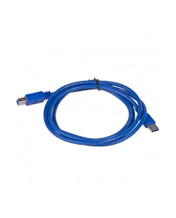 Kabel Akyga AK-USB-09 (USB 3.0 M - USB 3.0 Typu B M; 1 8m; kolor niebieski)