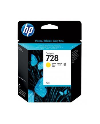 hewlett-packard Tusz HP F9J61A (oryginał HP728 HP 728; 40 ml; żółty)