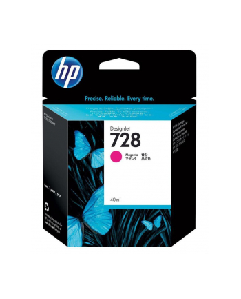 hewlett-packard Tusz HP F9J62A (oryginał HP728 HP 728; 40 ml; czerwony)
