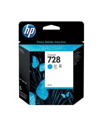hewlett-packard Tusz HP F9J63A (oryginał HP728 HP 728; 40 ml; niebieski)