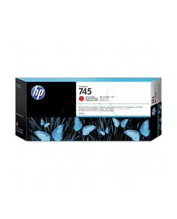 hewlett-packard Tusz HP F9K06A (oryginał HP745 HP 745; 300 ml; Czerwony chrom)
