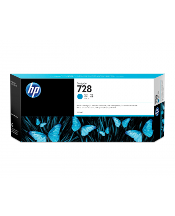 hewlett-packard Tusz HP F9K17A (oryginał HP728 HP 728; 300 ml; niebieski)