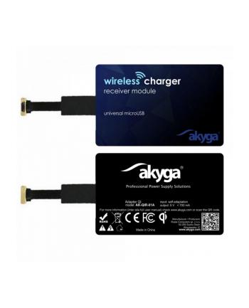 Power adapter Akyga  AK-QIR-01A (Micro USB; kolor czarny)