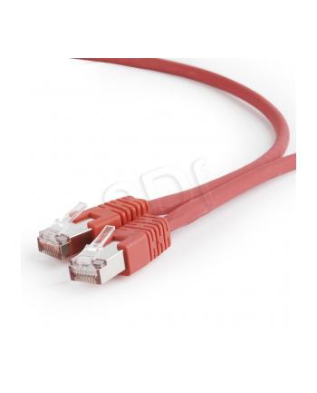 Kabel S/FTP GEMBIRD PP6A-LSZHCU-R-2M (RJ45 - RJ45; 2m; S/FTP; kat. 6a; kolor czerwony)