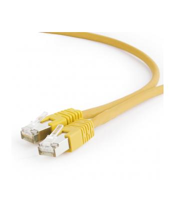 Kabel S/FTP GEMBIRD PP6A-LSZHCU-Y-1M (RJ45 - RJ45; 1m; S/FTP; kat. 6a; kolor żółty)