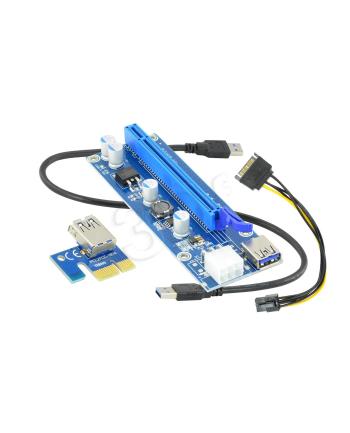 AKYGA RISER PCI-E 1X - 16X USB 3.0 AK-CA-64