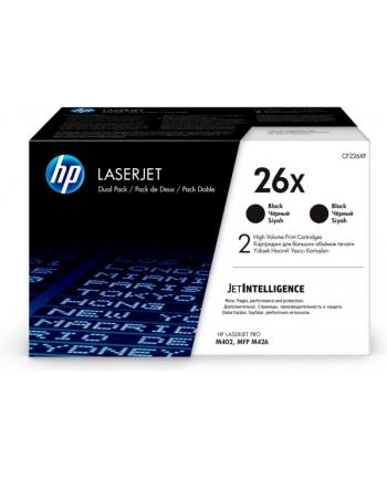 hewlett-packard Toner HP CF226XD (oryginał HP26XD HP 26XD zestaw zawiera 2 szt. czarny CF226X; 9 000 stron; czarny)