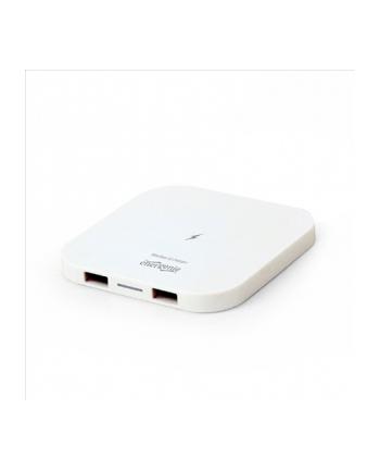 Ładowarka indukcyjna ENERGENIE EG-WCQI-02-W (Micro USB  USB; kolor biały)