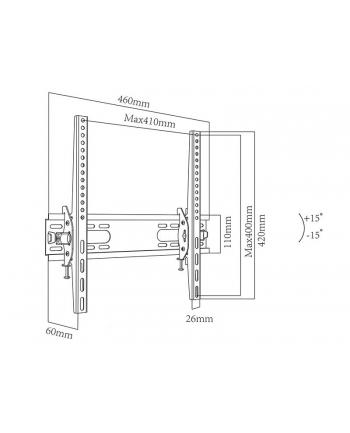 Uchwyt do telewizora BLOW 76-858# (ścienne; 26  - 55 ; max. 40kg)