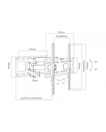 Uchwyt ścienny do telewizora BLOW 76-866# (ścienne; 32  - 65 ; max. 40kg)
