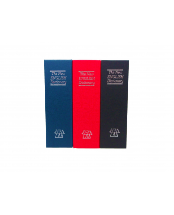 Sejf książka IBOX ISNK-05BLACK (115mm x 180mm x 55 mm)