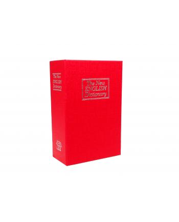 Sejf książka IBOX ISNK-05RED (115mm x 180mm x 55 mm)