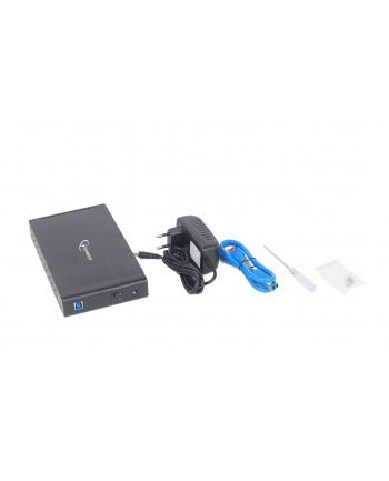Kieszeń GEMBIRD EE3-U3S-3 (3.5 ; USB 3.0; Aluminium; kolor czarny)