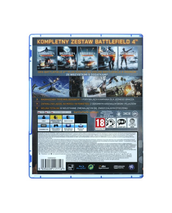 electronic arts Gra PS4 Battlefield 4 Premium Edition PL (wersja BOX; PL; od 18 lat)