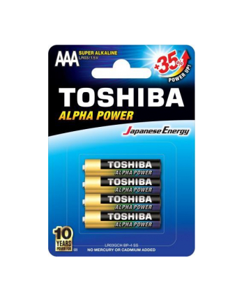 Baterie alkaliczne Toshiba  LR03GCH BP-4 (Ultra alkaiczna; x 4)
