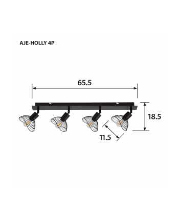 Listwa Activejet AJE-HOLLY 4P (160 W; E14 x 4)