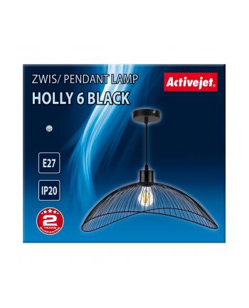 Lampa Activejet AJE-HOLLY 6 Black (E27)