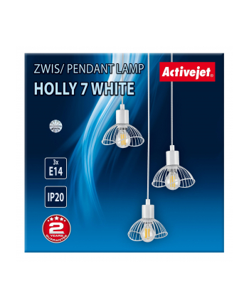 Lampa Activejet AJE-HOLLY 7 White (E14 x 3)