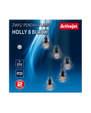 Lampa Activejet AJE-HOLLY 8 Black (E14 x 5)