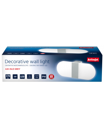 Kinkiet Activejet AJE-ISLO GREY IP44 (6 W; Zintegrowane źródło LED)