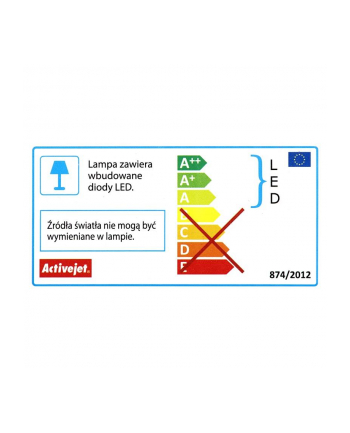 activejet Kinkiet dekoracyjny LED AJE-PESTO BLACK IP44
