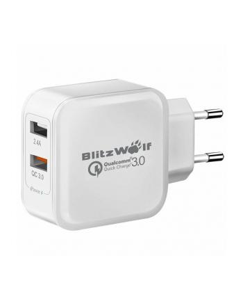 Ładowarka sieciowa BlitzWolf BW-S6 EU (USB; kolor biały)