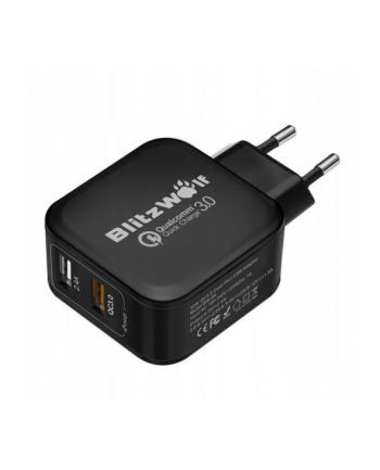 Ładowarka sieciowa BlitzWolf BW-S6 EU black (USB; kolor czarny)