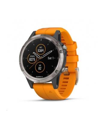 Zegarek sportowy Garmin Fenix 5 Plus Sapphire 010-01988-05 (kolor tytanowy)