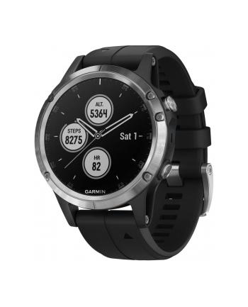 Zegarek sportowy Garmin Fenix 5 Plus 010-01988-11 (kolor srebrny)