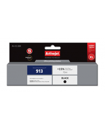Tusz Activejet AH-913BR (zamiennik HP 913 L0R095AE; Premium; 70 ml; czarny)