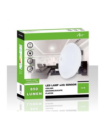 Plafon LED Art (12watt 25cmx10cm 4000K czujnik)