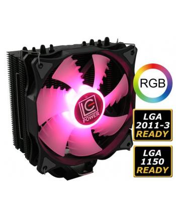 Chłodzenie CPU LC-POWER  LC-CC-120-RGB (AM2  AM2+  AM3  AM3+  AM4  FM1  FM2  LGA 1150  LGA 1151  LGA 1155  LGA 1156  LGA 1366  LGA 2011  LGA 2011-3  LGA 2066  LGA 775)