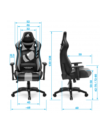 Fotel WARRIOR CHAIRS Dragon 5903293761038 (kolor czerwony)