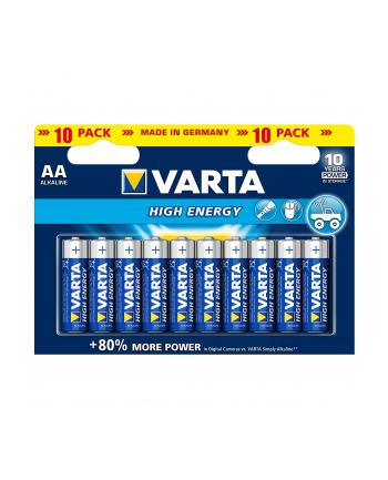 Baterie alkaliczne    VARTA  HighEnergy AA LR06 (x 10)