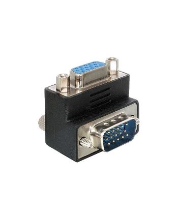 Adapter DELOCK  Z09973 (D-Sub (VGA) M - D-Sub (VGA) F; kolor czarny)
