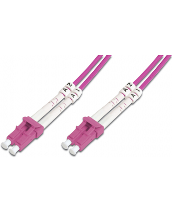 Kable sieciowe DIGITUS DK-2533-02-4 (LC - LC; 2m; kolor różowy)