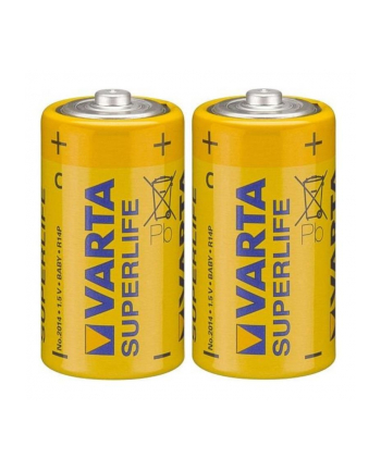 Baterie cynkowo-węglowe VARTA Superlife 2014101412 (Zn-C; x 2)