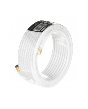 Kabel IBOX IKK10EX (10m; Wtyk typu F x Wtyk typu F ; kolor biały)