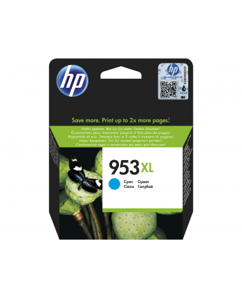 hewlett-packard Tusz HP F6U16AE (oryginał HP953XL HP 953XL; 20 ml; niebieski)