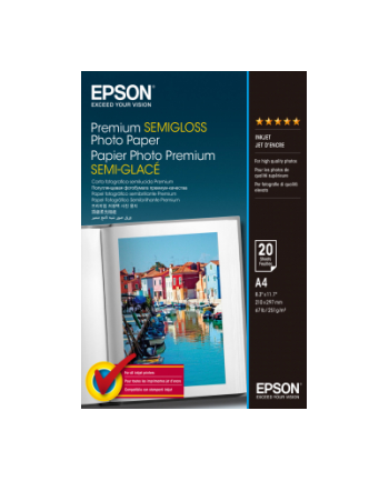 Papier Epson A4 Premium Semigloss Photo - 20 ark.