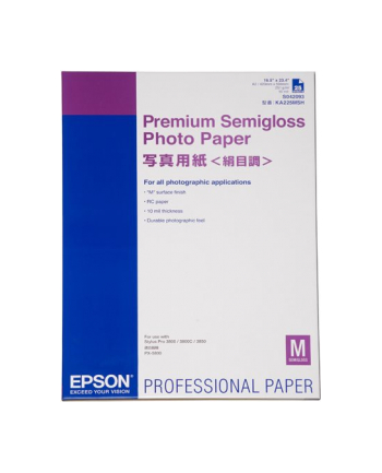 Papier Epson A2 Premium Semigloss Photo  (25 ark.)