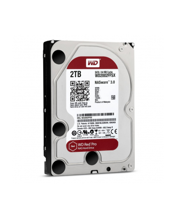 Dysk serwerowy Western Digital Red WD2002FFSX (2 TB HDD 2TB; 3.5 ; SATA III; 64 MB; 7200 obr/min)