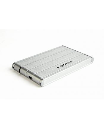 Obudowa GEMBIRD EE2-U3S-5-S (2.5 ; USB 3.0; Aluminium; kolor srebrny)