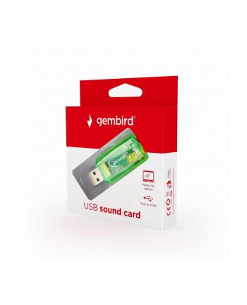 Karty dźwiękowe GEMBIRD SC-USB-01 (Zewnętrzna; Jack 3 5mm  USB 2.0)