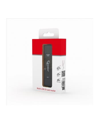 Czytnik kart GEMBIRD UHB-CR3IN1-01 (Zewnętrzny; MicroSD  MicroSDHC  SDHC  Secure Digital)