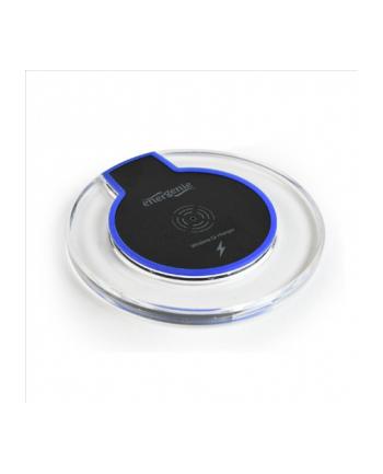 Ładowarka indukcyjna ENERGENIE EG-WCQI-01 (Micro USB  USB; kolor czarny  kolor przeźroczysty)