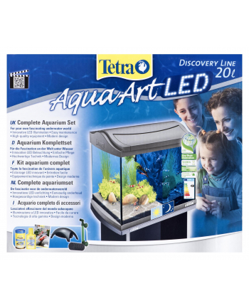 Tetra AquaArt LED Shrimp 20 L kol  szary